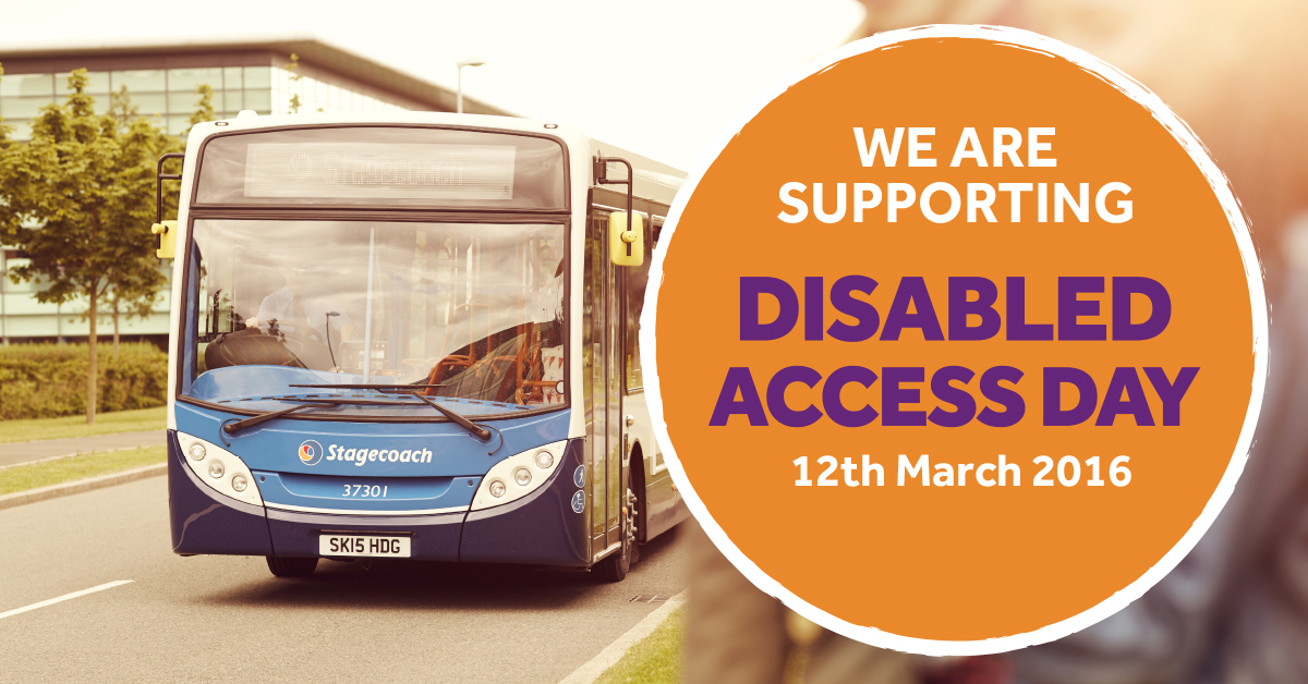 Stagecoach is supporting Disabled Access Day