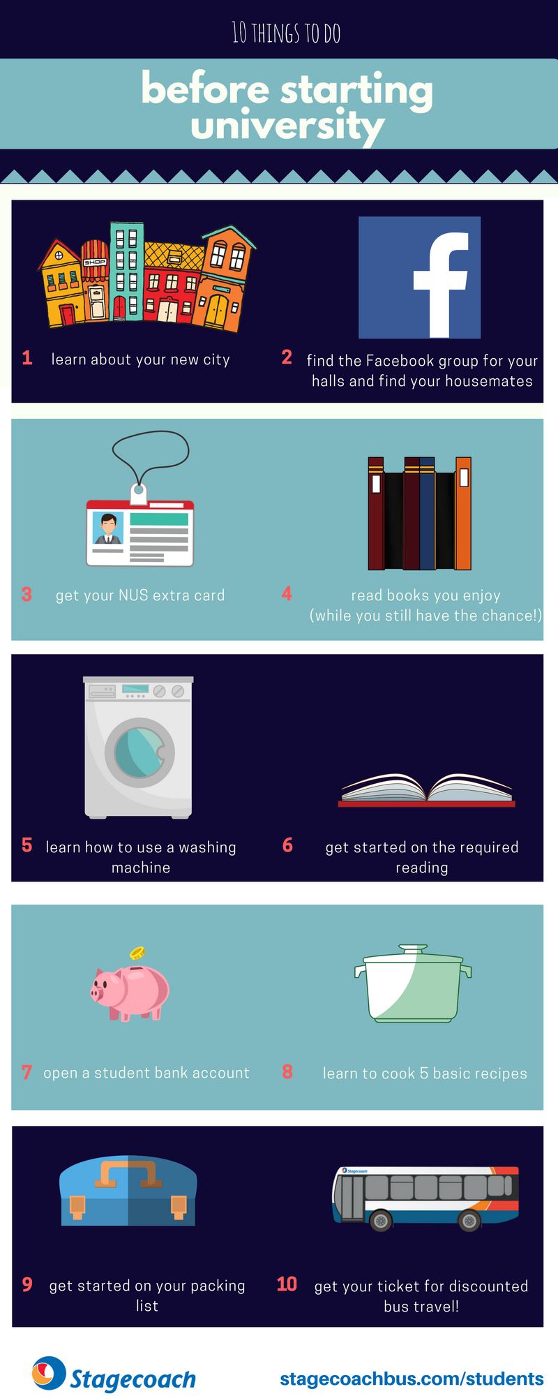 10 things to do before starting uni