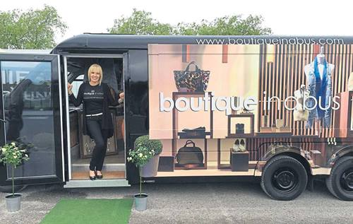 bus converted into boutique