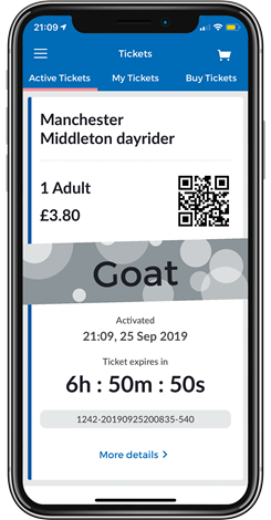 Stagecoach bus app active ticket