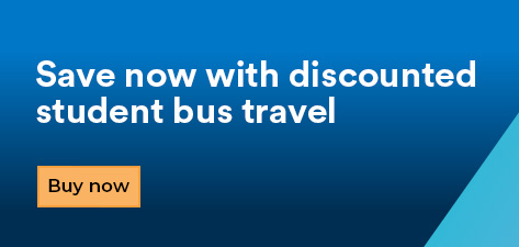 save now with discounted student bus travel