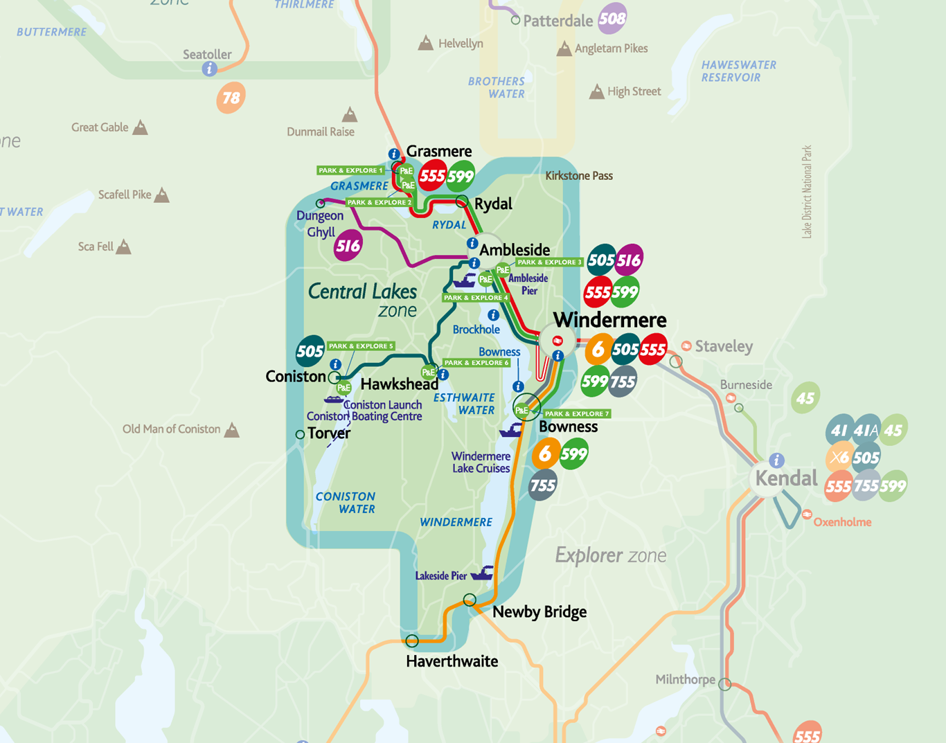 lake district bus map Park And Explore The Lake District Stagecoach lake district bus map