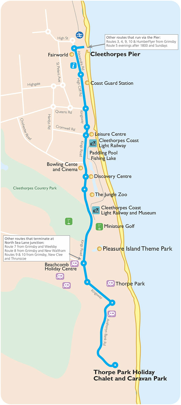Cleethorpes Seasider Map