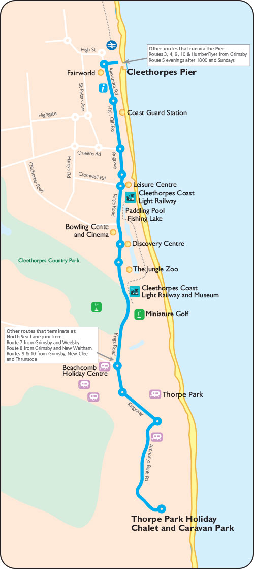 Cleethorpes Seasider Map 2017