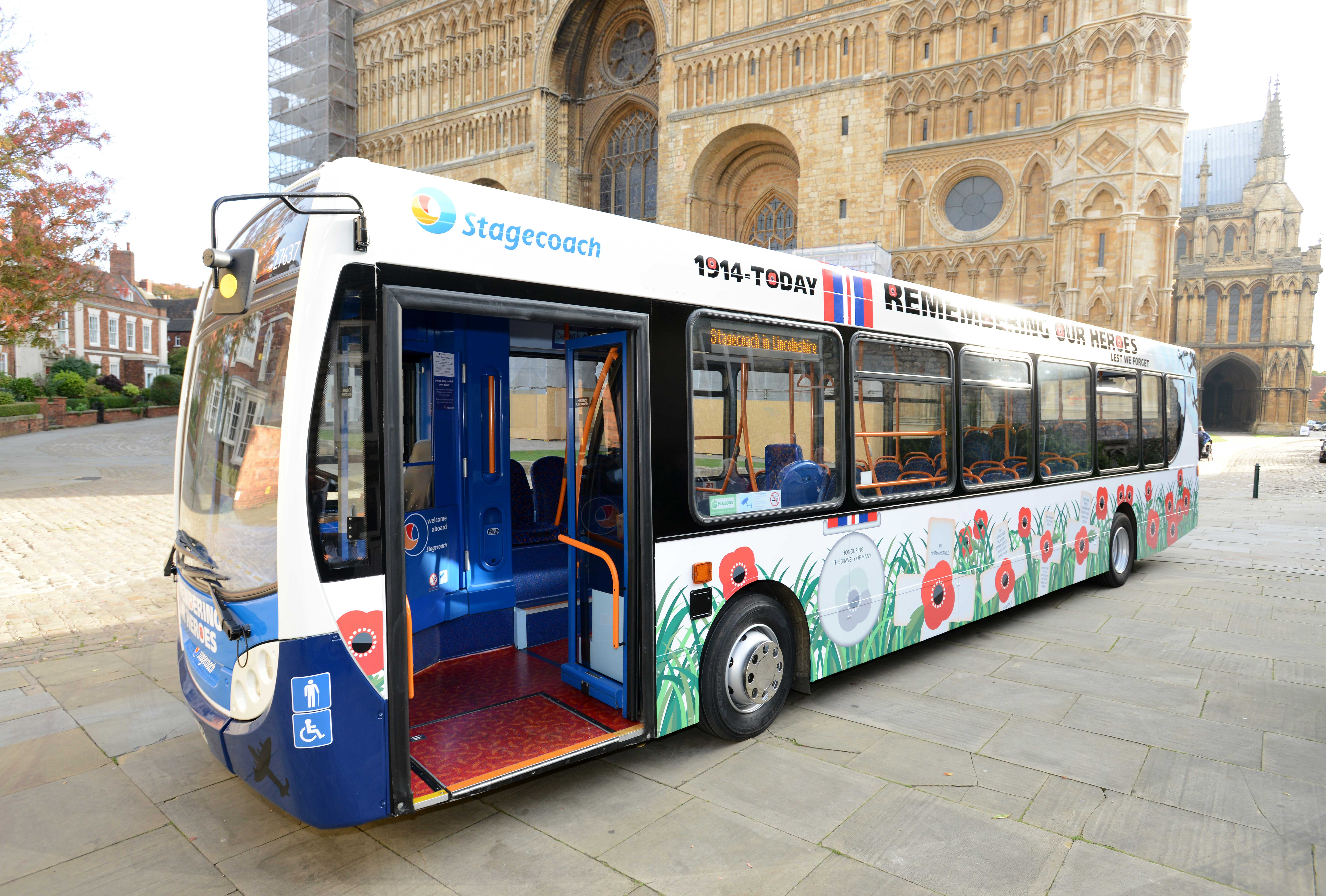 Stagecoach Poppy Bus Supports Remembrance Day