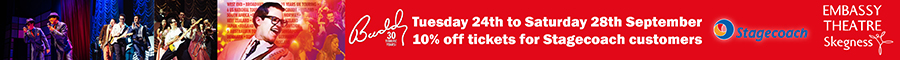10% off Embassy Theatre Buddy tickets with a Stagecoach bus ticket