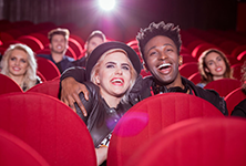 A couple in a cinema