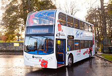 Commemorative Poppy bus launched for the centenary of Armistice Day