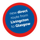 Direct route from Livingston to Glasgow