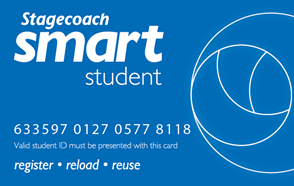 Mock up of student smart card
