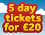 image for 5 for £20 dayrider promotion