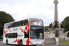 Stagecoach launches a poppy bus with Royal British Legion.
