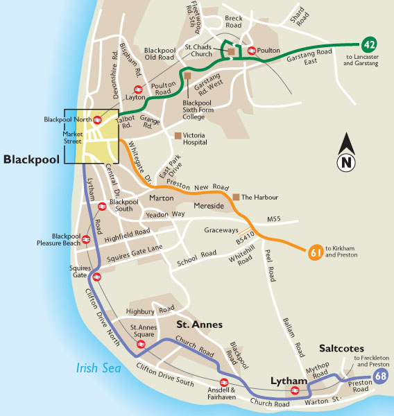 Service And - Blackpool map