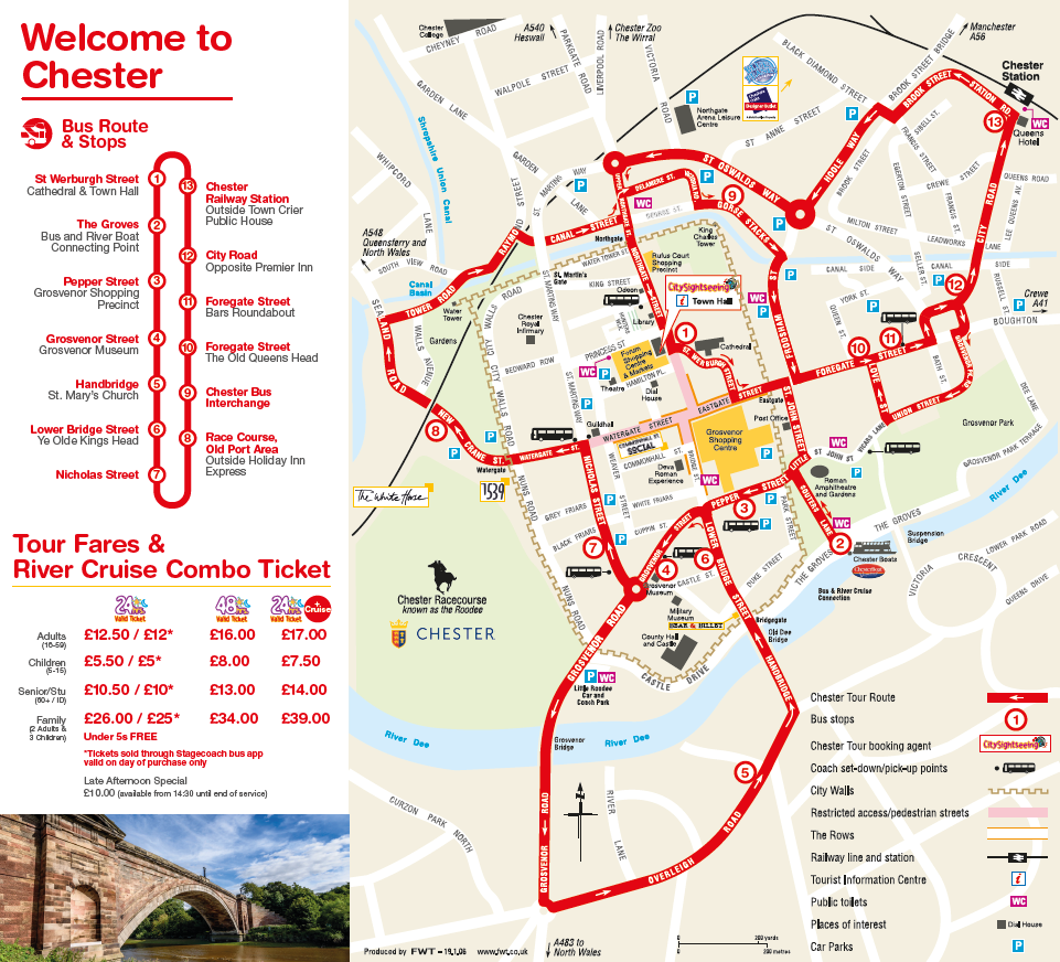 City Sightseeing map 2020