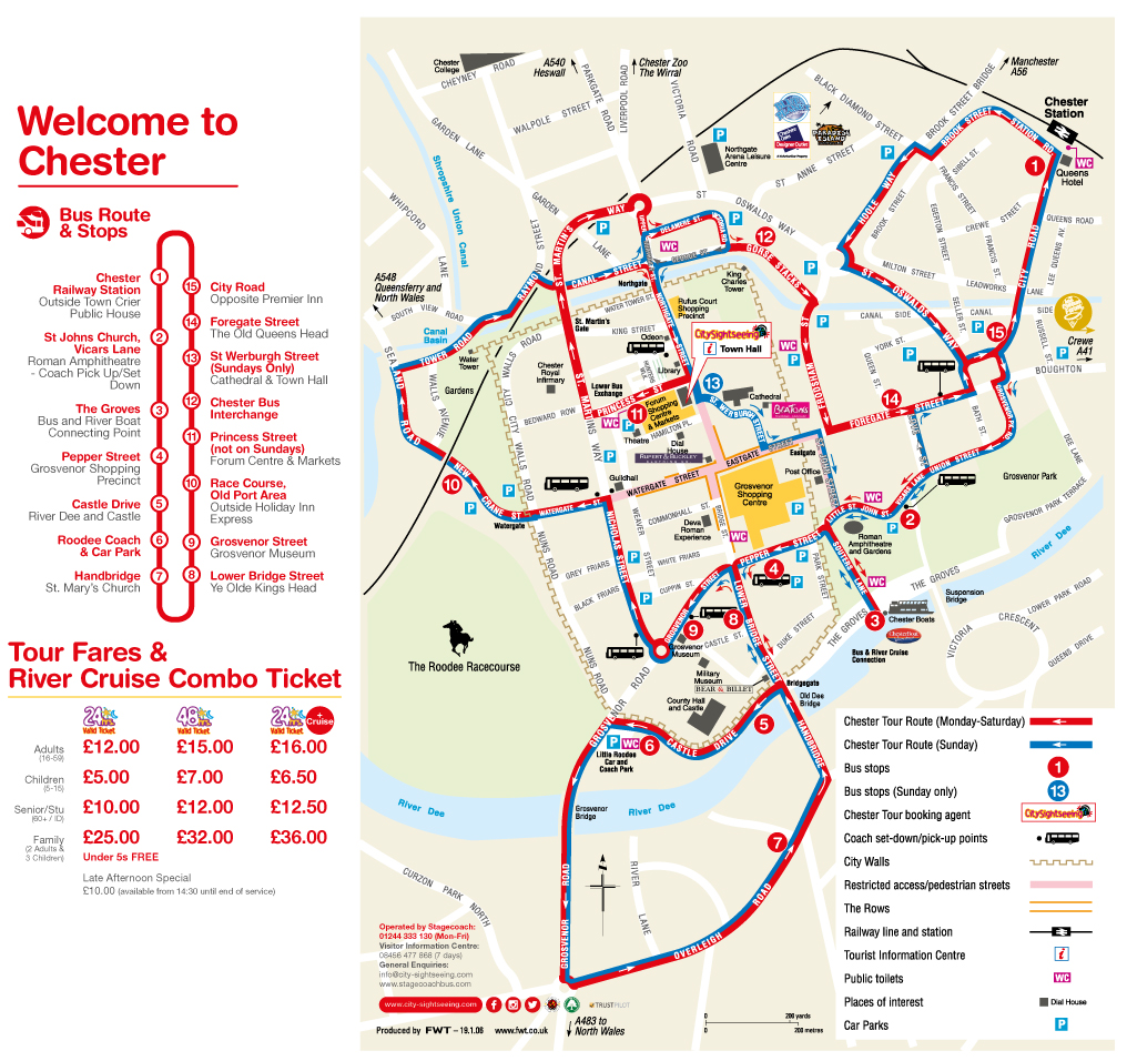 Map Of Chester City Centre Chester City Sightseeing Bus | Sightseeing | Stagecoach