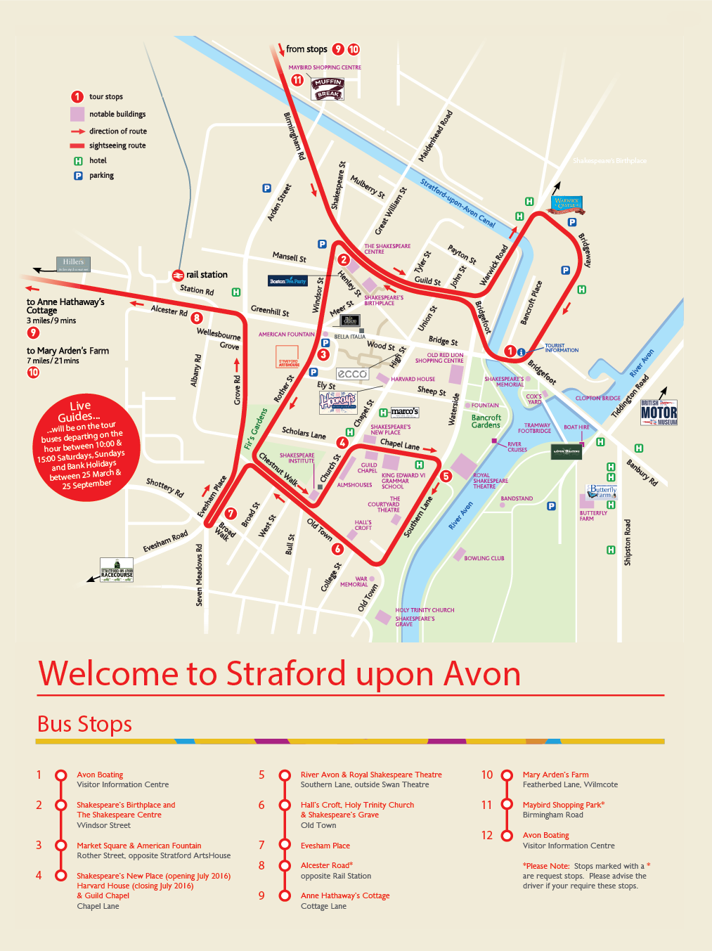 Stratford City Sightseeing Map
