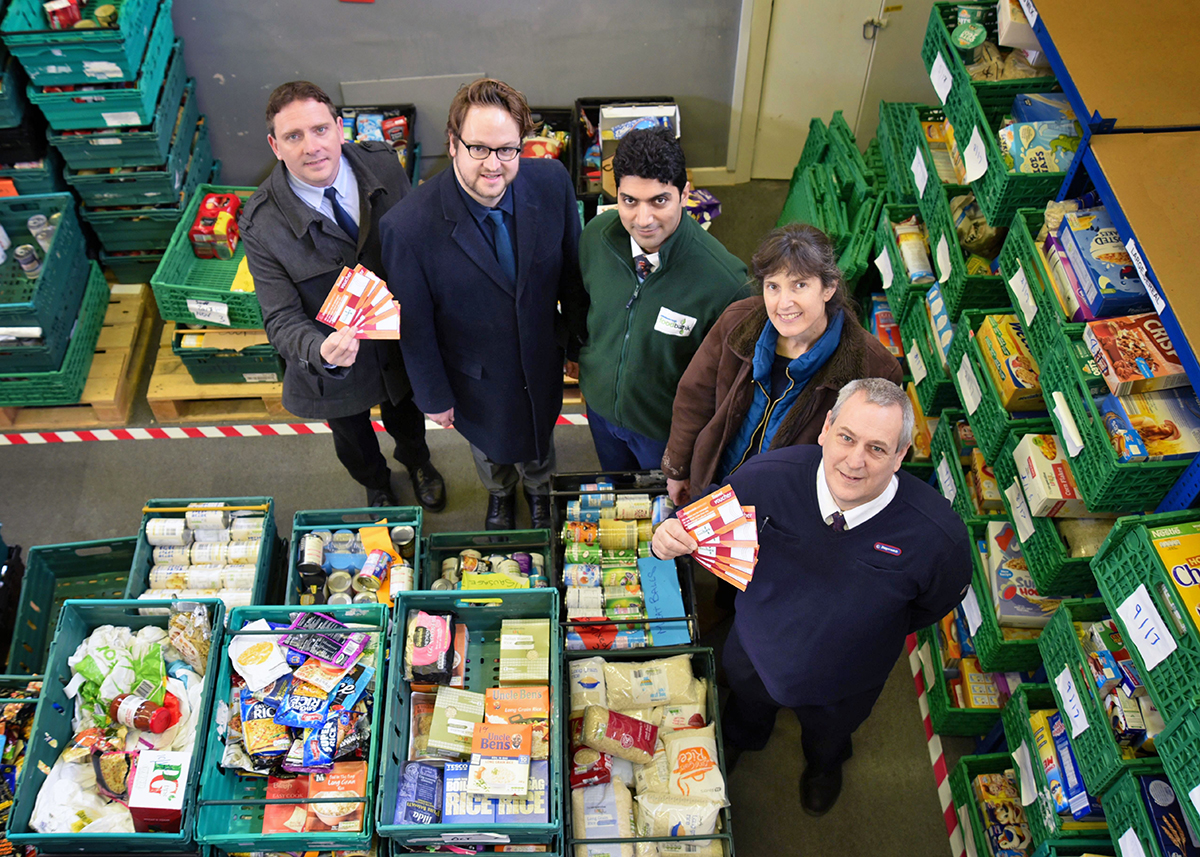 Middlesbrough foodbank and stagecoach