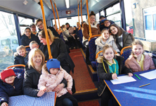 Hadrian School on bus