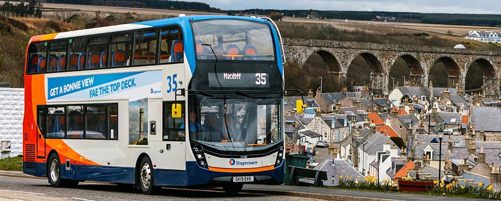 35 bus with cullen and viaduct in background