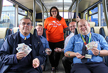 Unclaimed money left on buses given to Helen and Douglas House