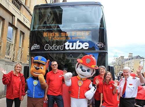 Oxford Tube team and Paw Patrol