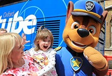 Paw Patrol celebrate kids go free on the Oxford Tube