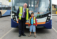 Five year old bus fanatic gets VIP treatment
