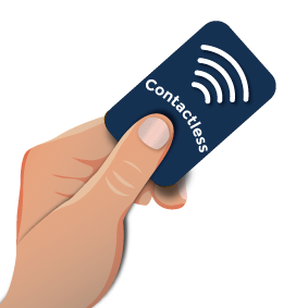 Contactless card in hand