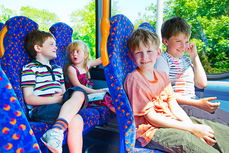 Children on a Stagecoach bus