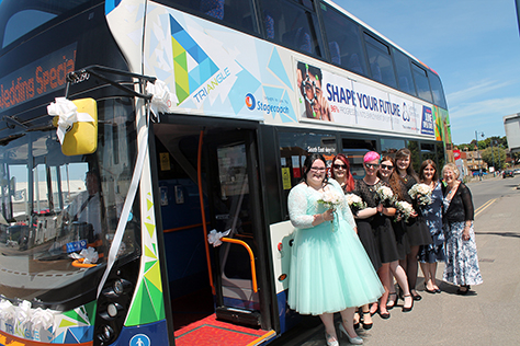 Stagecoach Awaits Bride To Be