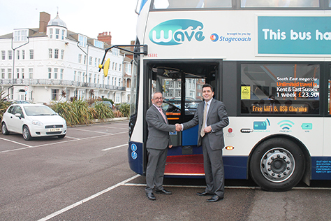 Wave 99 bus launch