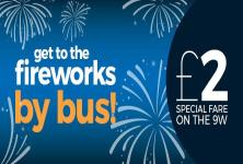 get to the fireworks by bus