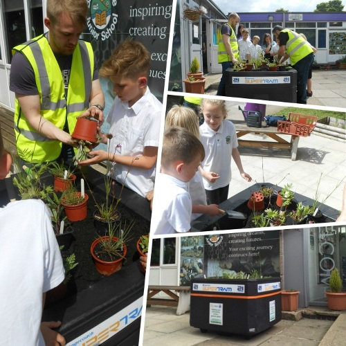 Stagecoach Supertram green week at Brookhouse school and Birley community primary school