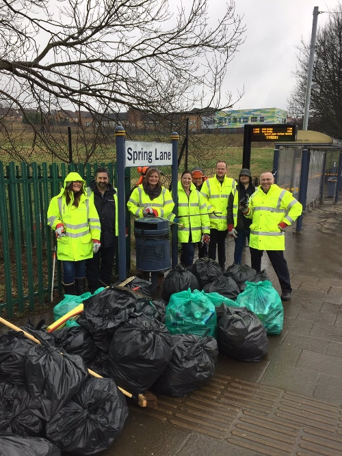 Stagecoach Supertram Spring Lane spring clean