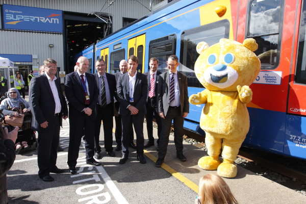 Theo, Sheffield Childrens hospital mascot and Citylink tram launch