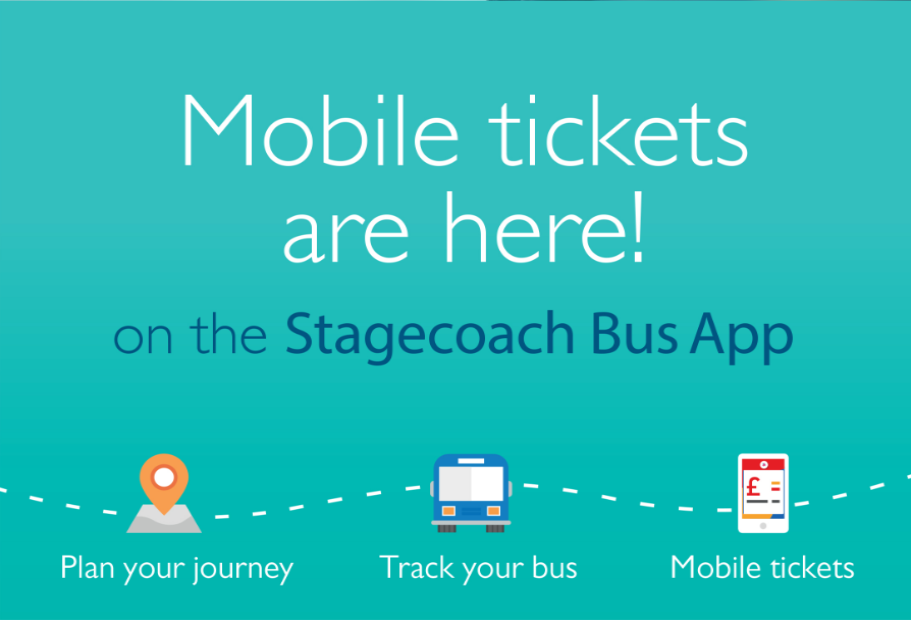 Mobile tickets are here on the Stagecoach Bus App